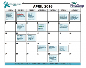 Download printable calendar of events